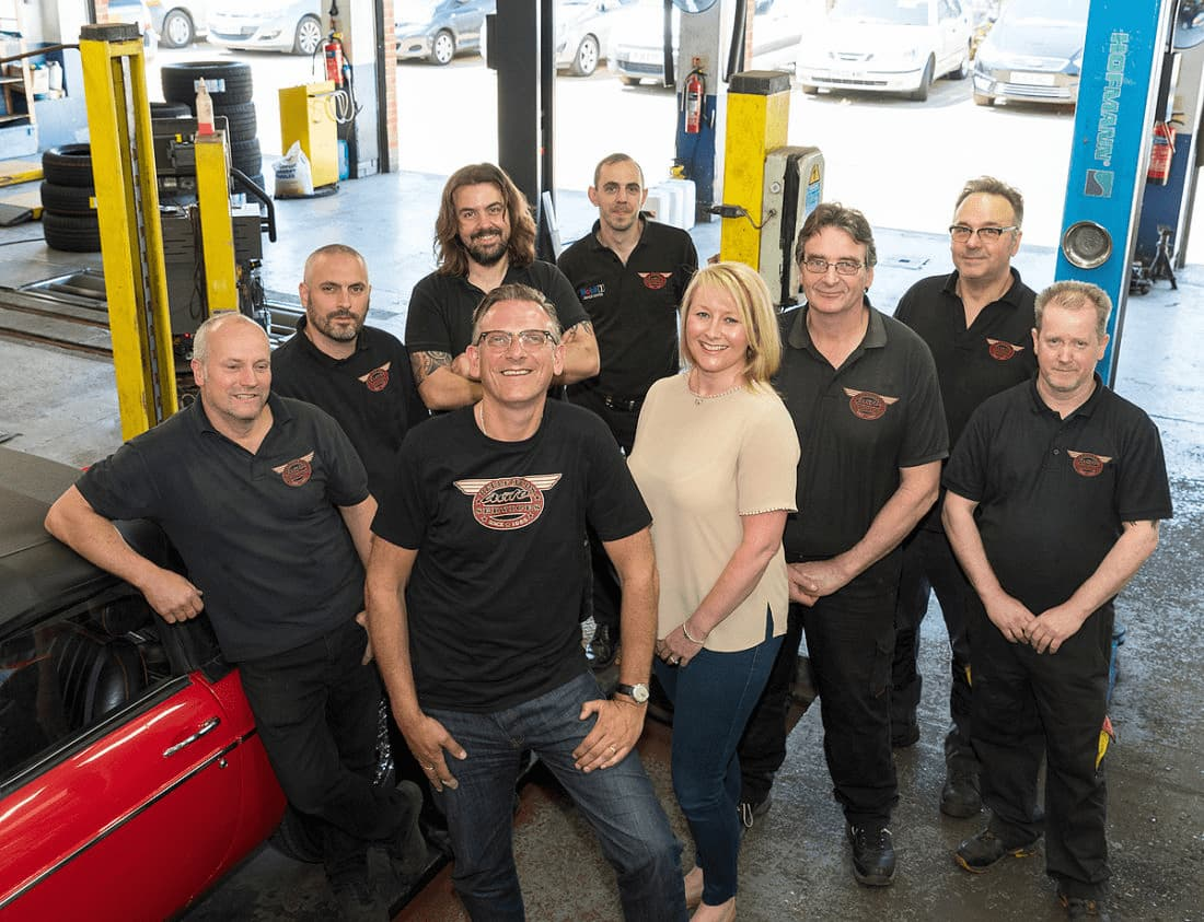 Staff at Bellfields Autos