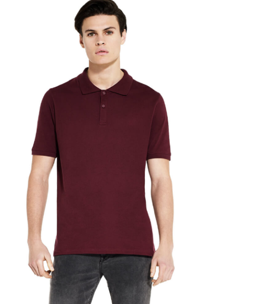 Earth positive Polo Shirt Dark Red