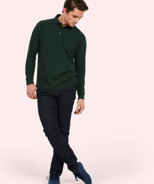 Uneek long sleeve Polo shirt