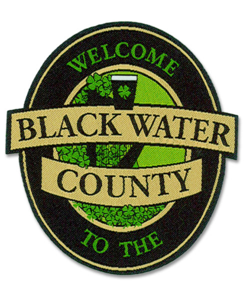 Black Water County band official iron-on patch